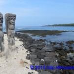 Statuen am Strand