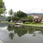 Auslauf der Lagune mit Blick auf Insel und Seilfähre