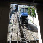 Schrägbahn aus der unteren Haltestelle aufgenommen