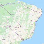 Reiseroute durch Brasilien